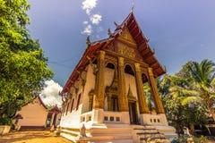 20 de septiembre de 2014: Templo budista en Luang Prabang, Laos Fotos de archivo libres de regalías