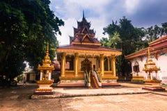 26 de septiembre de 2014: Templo budista en Vientián, Laos Imagen de archivo libre de regalías