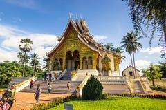 20 de septiembre de 2014: Templo de la explosión de Pha del espino en Luang Prabang, Laos Foto de archivo