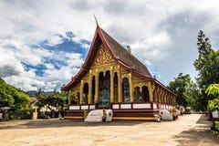 20 de septiembre de 2014: Templo de Wat Manorom en Luang Prabang, Laos Foto de archivo