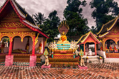 21 de septiembre de 2014: Templos en la prohibición Xang Hai, Laos Fotografía de archivo