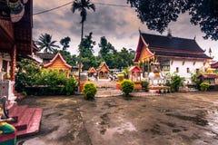21 de septiembre de 2014: Templos en la prohibición Xang Hai, Laos Imagen de archivo