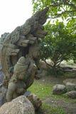 14 de septiembre de 2014 - uno de los elementos dañados adorna el templo del Tr Fotografía de archivo libre de regalías