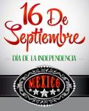 16 de Septiembre, diâmetro de independencia de México Fotografia de Stock Royalty Free