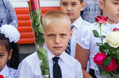 1 de septiembre, la línea de la escuela Foto de archivo