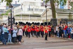 20 de septiembre de 2014, Londres, Gran Bretaña, la banda militar de fotografía de archivo