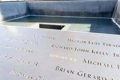 11 de septiembre monumento en Manhattan más baja, NYC Fotografía de archivo libre de regalías