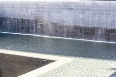 11 de septiembre monumento en Manhattan más baja, NYC Imagen de archivo