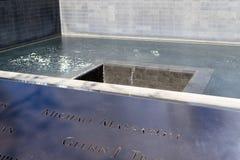11 de septiembre monumento en Manhattan más baja, NYC Fotos de archivo libres de regalías