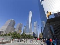 11 de septiembre monumento - New York City, los E.E.U.U. Fotos de archivo libres de regalías