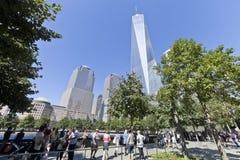 11 de septiembre monumento - New York City, los E.E.U.U. Imagenes de archivo