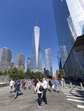 11 de septiembre monumento - New York City, los E.E.U.U. Imágenes de archivo libres de regalías