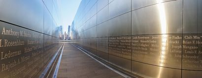 11 de septiembre monumento vacío del cielo en Liberty State Park en Jersey City Fotografía de archivo libre de regalías