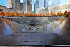 11 de septiembre monumento, World Trade Center Fotos de archivo