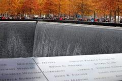 11 de septiembre monumento, World Trade Center Fotografía de archivo libre de regalías