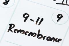 11 de septiembre remebrance Imágenes de archivo libres de regalías