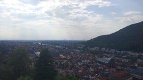 De sereniteits groen landschap van Duitsland Heidelberg stock fotografie
