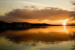 De series10-zonsondergang van de foto Royalty-vrije Stock Fotografie