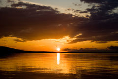 De series3-zonsondergang van de foto Royalty-vrije Stock Foto