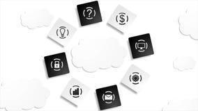 De server betrekt videoanimatie van de gegevensbestand de abstracte technologie stock illustratie