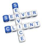 De server van de cliënt gegevensverwerking Stock Afbeelding