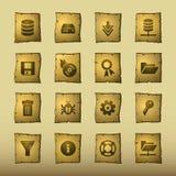De serverpictogrammen van de papyrus Royalty-vrije Stock Foto's