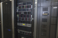 De serverruimte van het netwerk Royalty-vrije Stock Fotografie