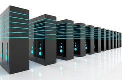 De serverruimte van het netwerk Stock Foto's