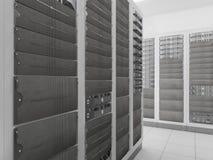De serverruimte van het netwerk Stock Foto