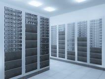 De serverruimte van het netwerk Royalty-vrije Stock Foto