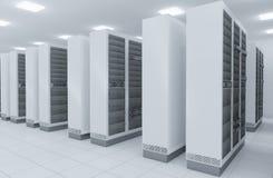 De serverruimte van het netwerk Stock Afbeelding