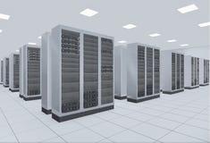De serverruimte van het netwerk Stock Fotografie