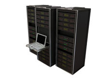 De servers van de computer Royalty-vrije Stock Afbeelding