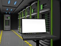 De servers van de rij Stock Afbeelding