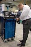De servers van gegevens op de ESRI gebruikersconferentie stock fotografie