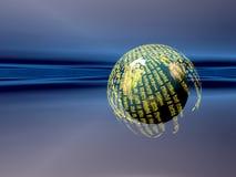 De servers van gegevens, vitual werkelijkheid Stock Afbeelding