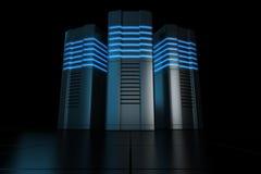 De servers van het rek Stock Afbeelding