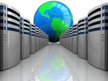 De servers van Internet Stock Afbeelding