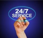 24/7 de serviço Imagens de Stock Royalty Free