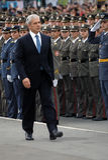 De Servische voorzitter, B.Tadic neemt nieuwe ambtenaar-1 waar Royalty-vrije Stock Fotografie