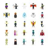 De set van tekens van Halloween vector illustratie