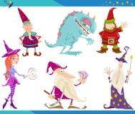 De Set van tekens van de Fantasie van het beeldverhaal Royalty-vrije Stock Fotografie