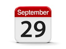 29 de setembro Imagens de Stock Royalty Free