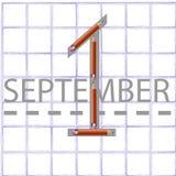 1º de setembro Ilustração do Vetor