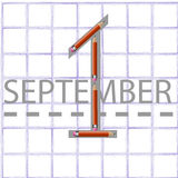 1º de setembro Fotografia de Stock