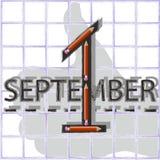 1º de setembro Ilustração Royalty Free
