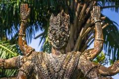 26 de setembro de 2014: As estátuas de pedra budistas na Buda estacionam, Laos Imagens de Stock Royalty Free