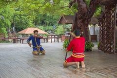 14 de setembro de 2014 Desempenho tradicional dos atores no fotos de stock royalty free