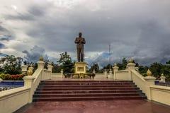 20 de setembro de 2014: Estátua do presidente Souphanouvong em Luang P Imagens de Stock Royalty Free