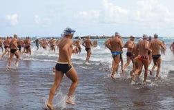 13 de setembro de 2014, Gran nadada de Canaria, mar Imagem de Stock